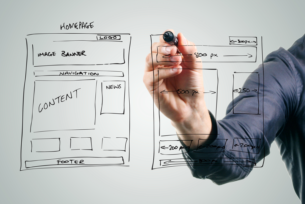 Website Design Development Wireframe